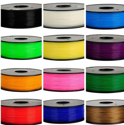 3D Printer Filament ABS 1Kg 3MM 1.75MM Roll Pack For Makerbot UP Huxley  AY