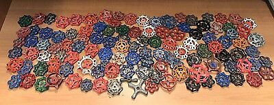 HUGE LOT 118pc~ Valve Handle Water Faucet Knobs STEAMPUNK Industrial Wall Craft