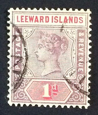 Leeward Islands 1890 Victoria 1d Fine Used SG 2
