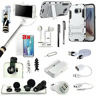 17 x Accessory Bundle Case Charger Fish Eye Monopod For Samsung Galaxy S7 Edge