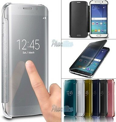 Cover Custodia Flip Clear View Per Samsung Galaxy S6/s7/edge/s8/j3/j5/j7/a3/a5