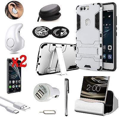 Case Cover+Dock Charger+Wireless Headset Headphone Accessory Kit For Huawei P9