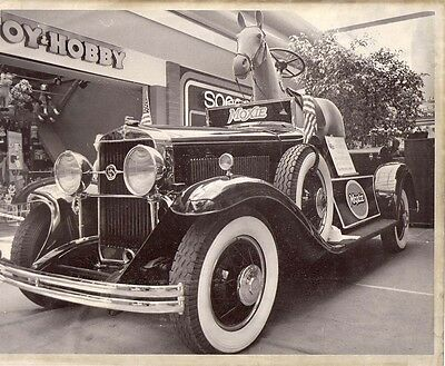 1927 LaSalle 8 x 10 B&W Photograph MOXIE Antique Moxiemobile with Horse in It