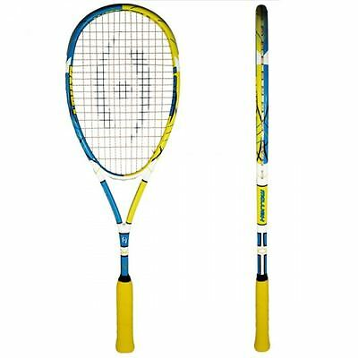 "Harrow Clutch Squash Racquet, Amanda Sobhy ""Beast"" Custom - Teal/Yellow/White"