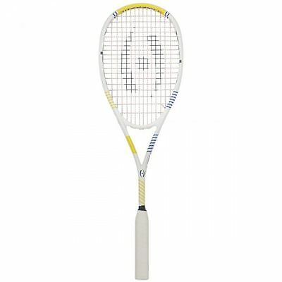 2017 Harrow Vapor Squash Racquet - White/Royal/Yellow