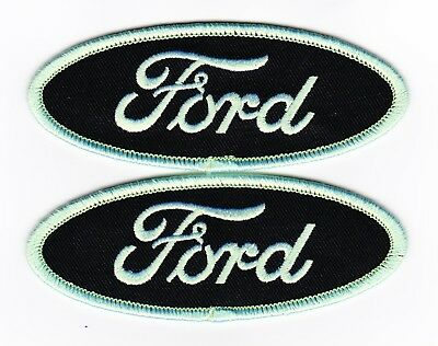 Ford Black Lime Green Sew/iron On Patch Embroidered Mustang Falcon Torino Car
