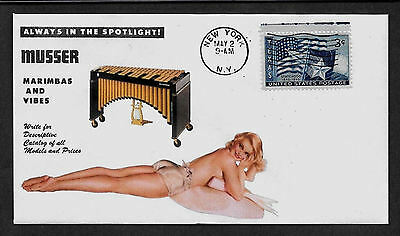 1950s Musser Vibraphone Ad Featured on Collector's Envelope *A146