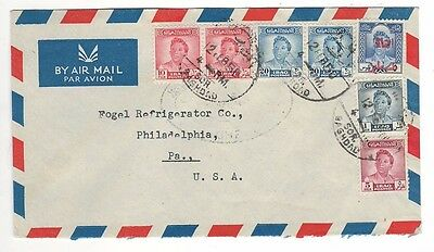 "1950 Iraq Air Mail Cover With ""Save Palestine"" Stamp"