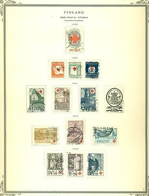 FINLAND Semi-Postal Collection on Scott pages, Complete thru 1996, used Sc. $848