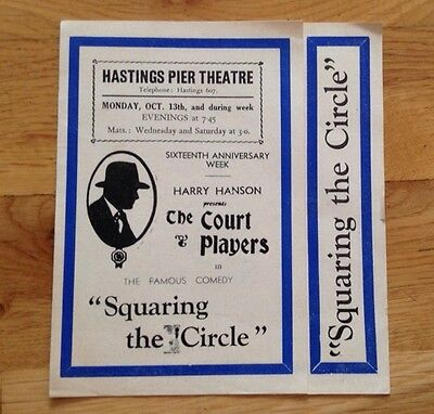 HASTINGS PIER THEATRE flyer SQUARING THE CIRCLE