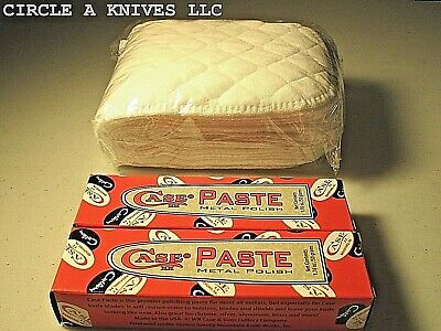 CASE XX KNIFE POLISHING PASTE / 2 Tubes POLISH PASTE + 10pcs 100%COTTON CLOTHS
