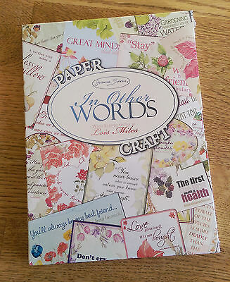 Joanna Sheen In Other Words CD-ROM Brand New Unopened Papercraft