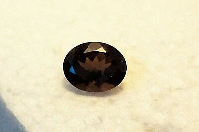 beautiful 8x10mm oval faceted  natural smoky quartz faceted  total carat 2.10