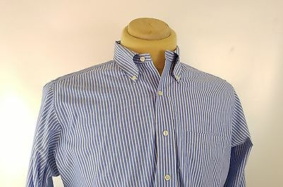 Brooks Brothers button-down Non Iron Fit Dress shirt Blue Slim Men Mens Cotton