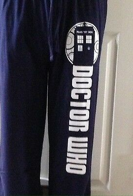 NWT Men s BBC Doctor Who Tardis Police Box Blue Pajama Lounge Pants Size  Small S 9e01c46dc