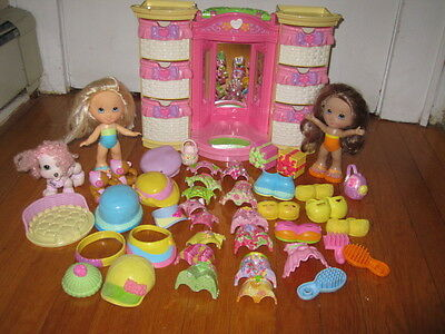 Fisher Price Snap n & Style Dolls & Accessories Lot and Light-up Wardrobe.