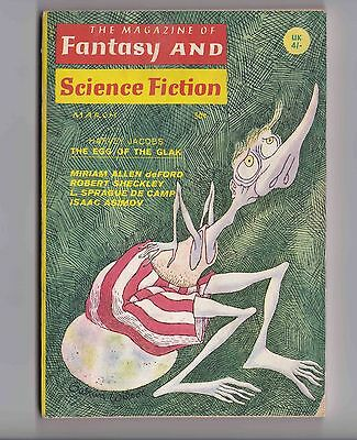 Vintage Magazine of Fantasy and Science Fiction March 1968