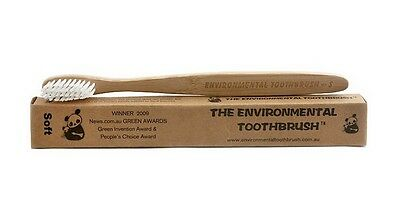 Environmental Bamboo Toothbrush Adult Soft Wood Wooden Tooth Brush Rrp: £2.99