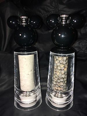 Disney Parks  Mickey Mouse Acrylic Salt and Pepper Grinder Set of 2 NEW