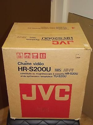 JVC VHS  HR-S20U Video Cassette Recorder VCR TU-S20U Tuner Adapter VHS NEW NOS