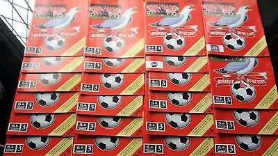 96/97 Scarborough Home Programmes v ( Choose from Drop Down List)