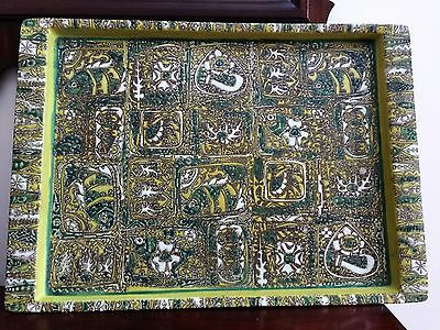 Rare Huge NILS THORSSON Faience Tray - BACA