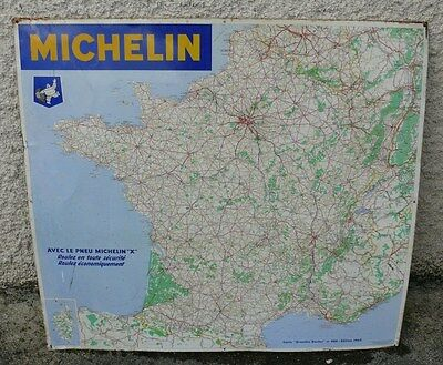 carte GRANDES ROUTES MICHELIN Tole EDITION 1962 N° 989 80 CMS X 72 CMS