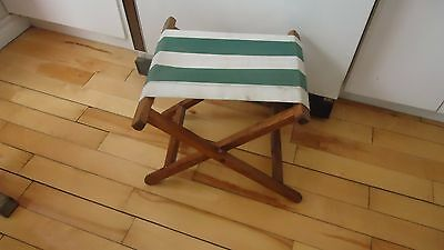 RETRO CANVAS WOODEN FOLDING CAMPING FISHING STOOL chair