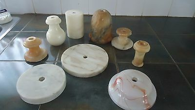 Vintage Lamp Parts Marble & Glass Base Spacers ...