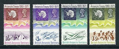 Weeda British Antarctic Territory 39-42 VF MNH 1971 Map of Antarctica CV $53.50