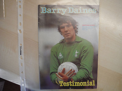 Barry Daines Testimonial Football Programme 11 May 1981