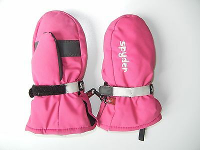 SPYDER Pink Warm WINTER MITTENS Ski Snow Gloves Size Kids TODDLER MEDIUM Youth