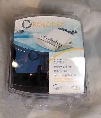 "Rolodex 15352 Petite 2 1/4"" X 4"" CARD FILE W/ 50 Cards CSB15352 NEW"