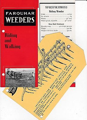 Farquhar Iron Age Riding & Walking Weeders Brochure Specifications Thills Handle
