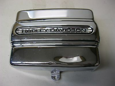Harley Davidson Chrome Script Battery Cover Band And Battery Cover