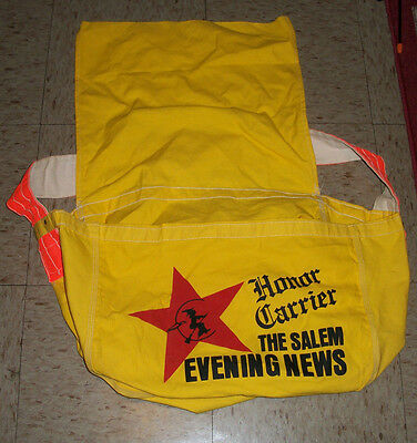 The Salem Evening News Salem, MA - Canvas Newspaper Delivery Bag w witch carrier