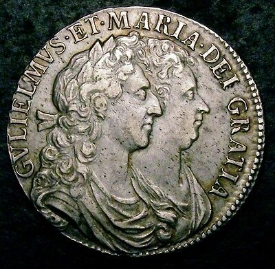 1689 GVF William and Mary Half Crown ESC 503A CGS 50 (AU55)  ☆☆ Finest Graded ☆☆
