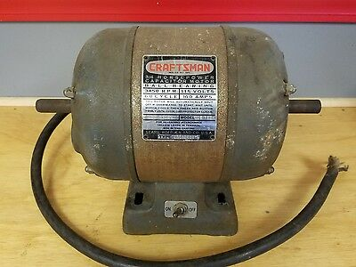 Sears Craftsman  3/4 hp Capacitor Motor With Ball Bearings 10 amp 3450 rpm!!!!