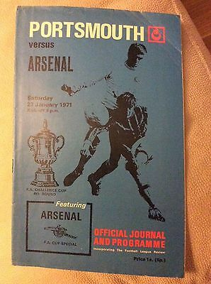 PORTSMOUTH v Arsenal (FA Cup) 1970/1 AFC Double Season