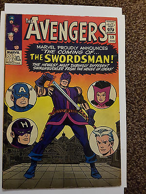Marvel Comics - AVENGERS # 19 August 1965 1st SWORDSMAN VG/FN