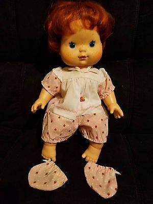 Vintage 1982 Kenner Strawberry Shortcake Doll Made In Hong Kong W/ Booties