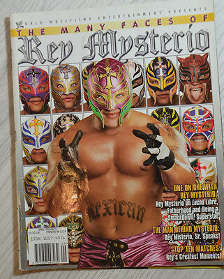 Rare Wrestling Collectors Magazine / Wwf Wcw Wwe The Many Faces Of Rey Mysterio