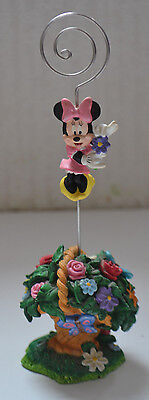 Rare Official Disney / Minie Mouse Photo Holder / Disney World / 7 Inches Tall