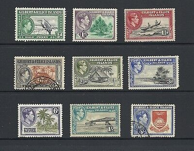 1939 King George VI SG43 - SG54 short set mostly mint GILBERT AND ELLICE ISLANDS