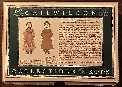 "Gail Wilson Duggan 12"" Primitive Molded Doll ©1990 #2"