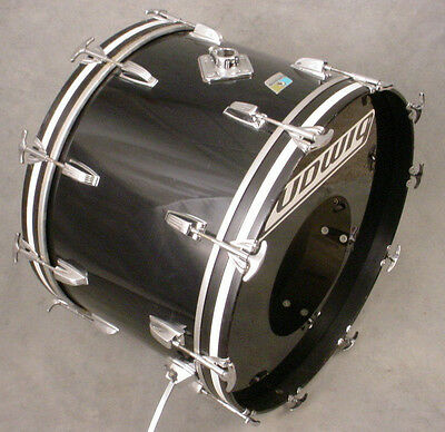 "1978 LUDWIG SMOKE VISTALITE 14x22"" BASS DRUM, NICE CONDITION!!"