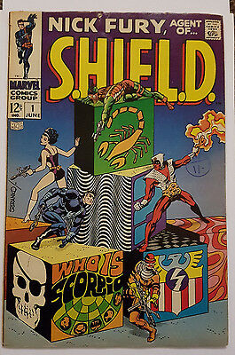 Nick Fury, Agent of SHIELD #1, JIM STERANKO, Marvel Comics 1968