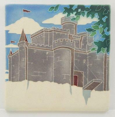 Arts and Crafts Motawi 8x8 Clifftop Castle Tile