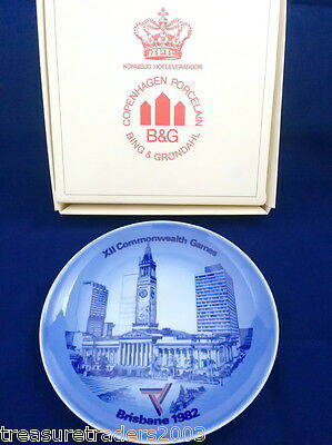 🌟 Bing & Grondahl Copenhagen Plate Xii Commonwealth Games Brisbane 1982 Boxed