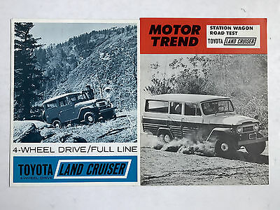 2-1964-65 Toyota Land Cruiser Fj40 Fj45 Hardtop Wagon Pickup  Sales Brochures